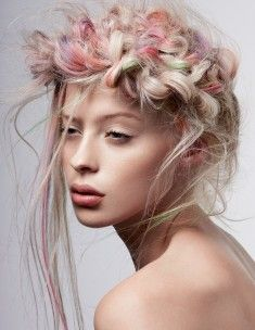 Olivia Zynevych Braids and Pastel create Beautiful fantasy hair