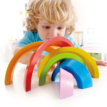 Hape Creative Rainbow Curve Set #limetreekids