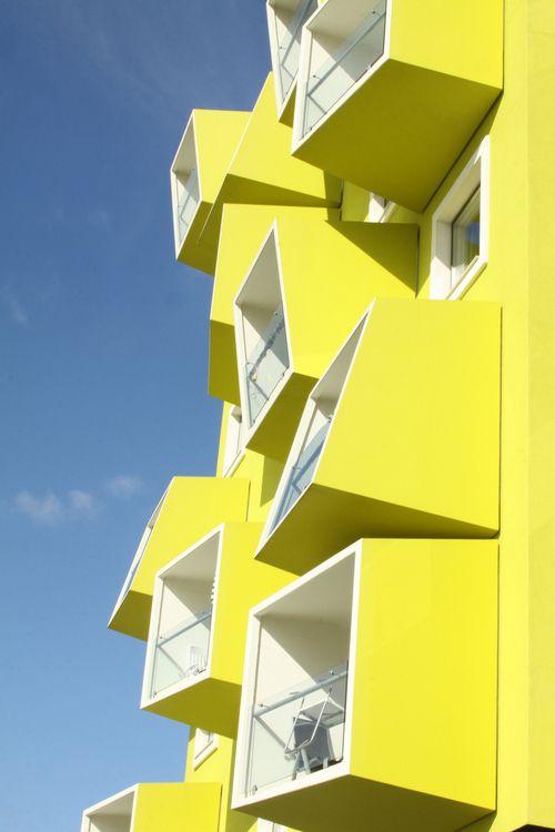 architecture yellow. restad plejecenter jjw arckitekter asli aydin architecture yellow