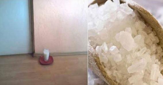 Placez un verre rempli d'eau, sel et vinaigre ! dans cet endroit bien précis de votre maison ! Après 24 h les résultats impressionnantes
