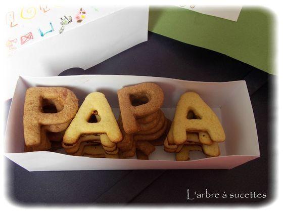 Petits biscuits pour la fête des pères
