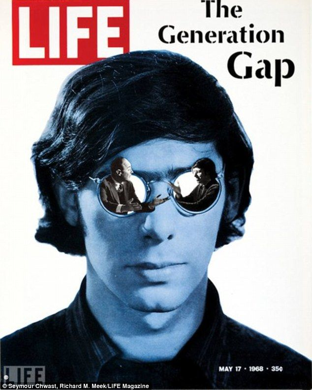 "Major Catch-Phrase - ""The Generation Gap!""   Life Magazine Cover  1968"