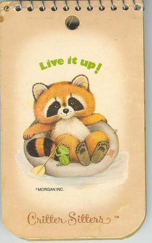 Critter Sitters notepad. I had this! And I still can't pass up cute notepads for my purse. :)