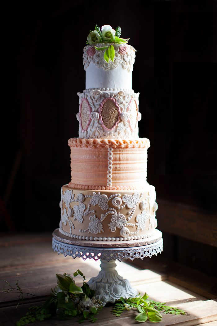 Check Out This Amazing Victorian Inspired Tiered Wedding Cake From Sugar Cubed Creations