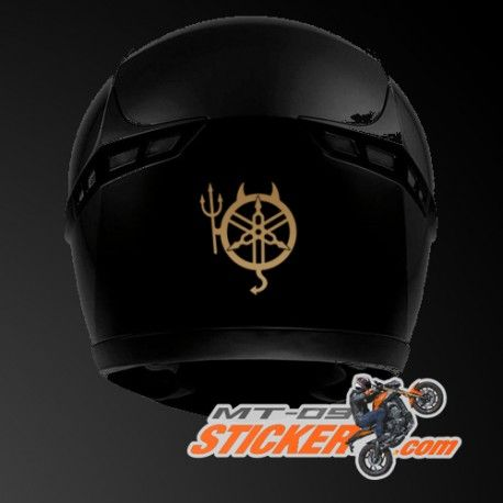 Packaging include: One custom Yamaha devil helmet sticker…