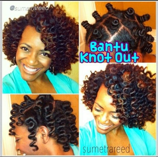 Bantu knot out...beautiful!Of course mine wouldn't look like this but...