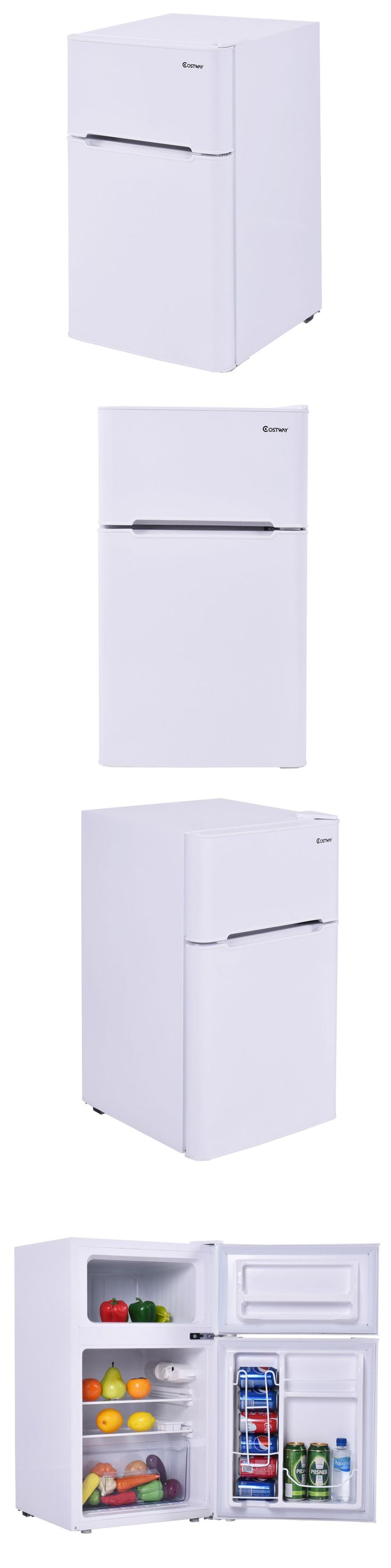 Refrigerators 20713: Stainless Steel Refrigerator Small Freezer Cooler Fridge Compact 3.2 Cu Ft. Unit -> BUY IT NOW ONLY: $155.95 on eBay!