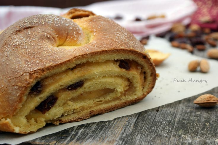 marzipan rum soaked cherries challah by Pink Hungry