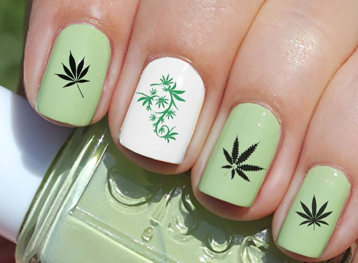 26 best Hippie Marijuana Nail Art Decals images on Pinterest | Arte ...