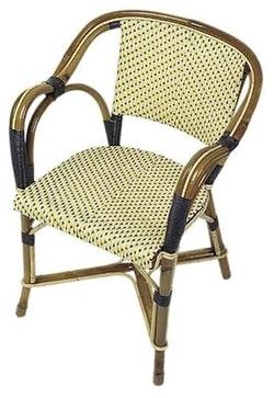 Authentic French Cafe Chair - mediterranean - chairs - TK Collections