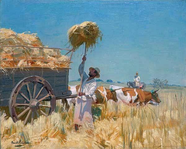 Benito Rebolledo Correa(1880-1964)「La parvada」