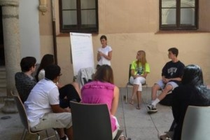 Students learning outside. #IBWSC12 #Segovia