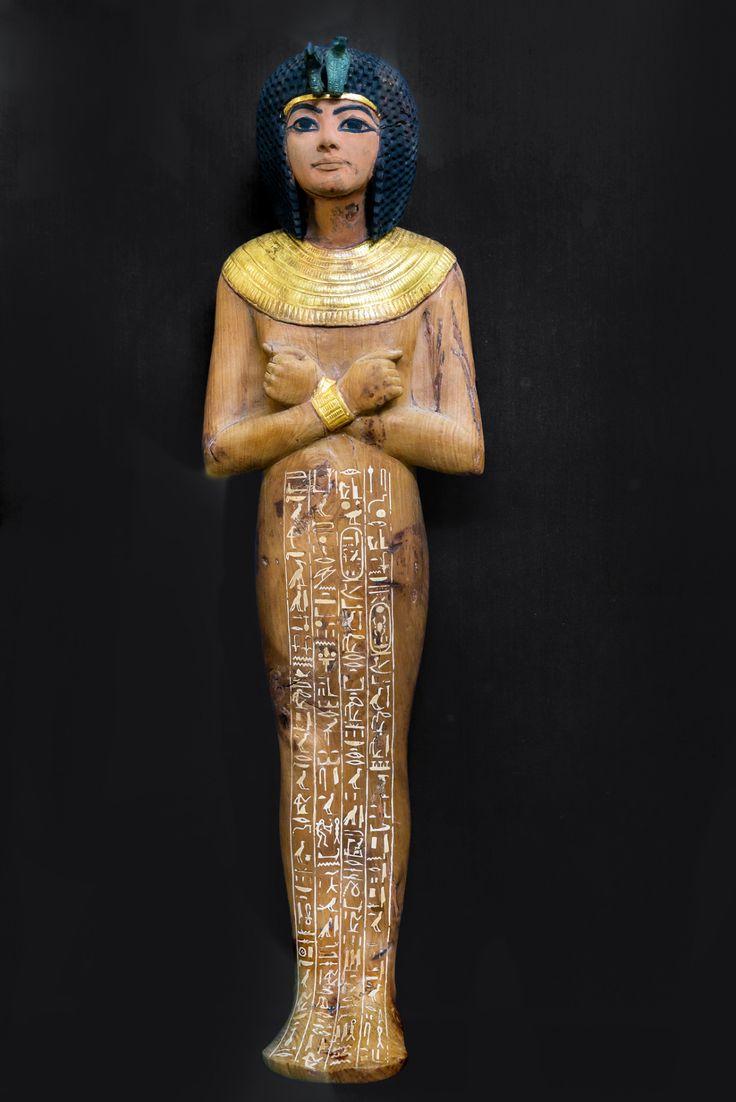 Ushabti figure from the Tomb of Tutankhamun 1332-1323 B.C. Dynasty XVlll New Kingdom.