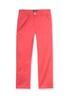 Chaps Nantucket Red Basic Twill Pant Boys 8-20