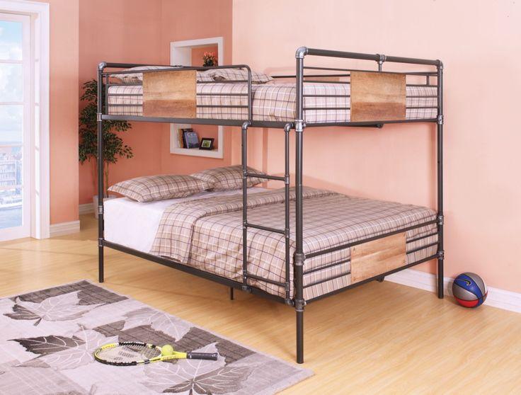 Acme Brantley Queen Bunk Bed Sandy Black Silver 37720 Bedsqueen Size