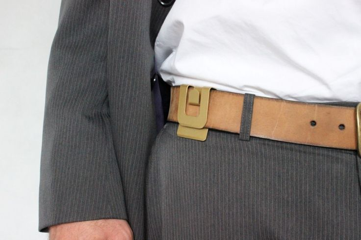 Great idea for guy's suits, hang your jacket and free your hands!