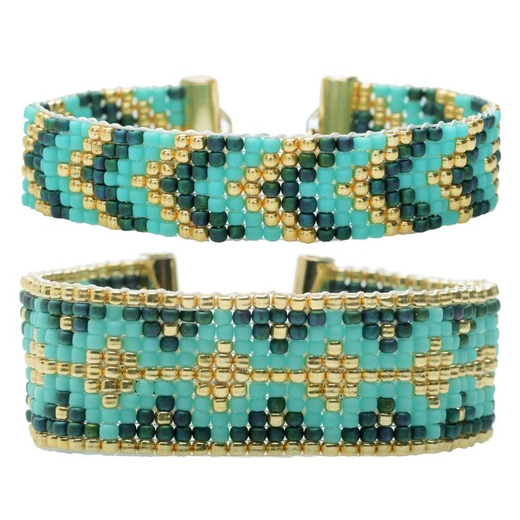 Loom Bracelet Duo - Hemingway Teal - Exclusive Beadaholique Jewelry Kit