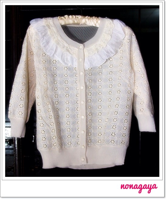 Ivory Cardigan Renda .. Love this.