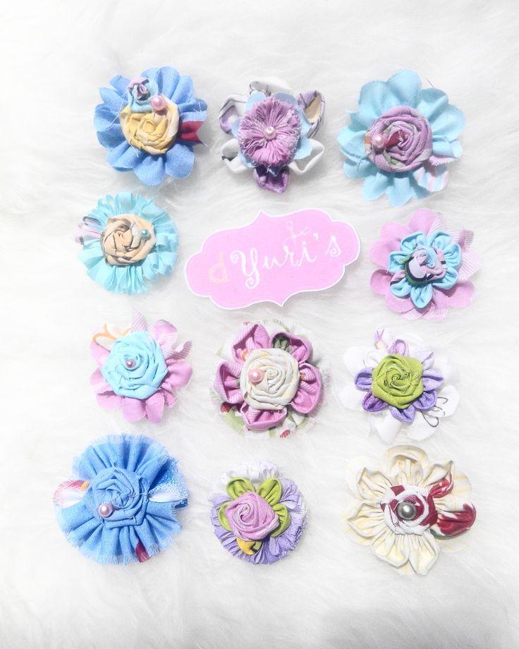 vintage colorful hairclips for princess