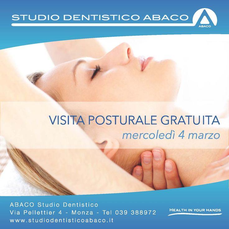 Open Day visita posturale gratuita! #postura #abaco #monza Visita il nostro sito www.studiodentisticomonza.com