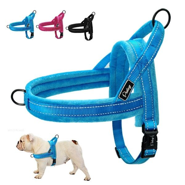 Reflective No Pull Pet Dog Harness Warm Fleece Padded For Small To