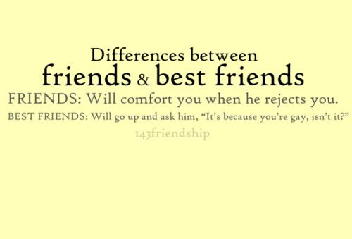 Friends vs. Best friends I choose bestfriends hahahaha