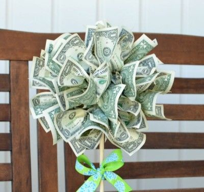 Diy Money Tree Topiary Gift Crafty Pinterest Cash