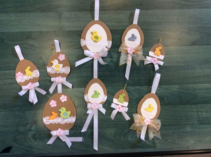 Húsvéti dekoráció (Hullámkartonból ,famatricával)