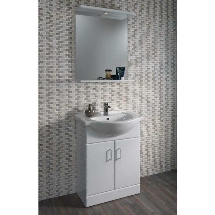 Sienna 55 vanity unit basin victoria plumb bathrooms for Bathroom cabinets victoria plumb