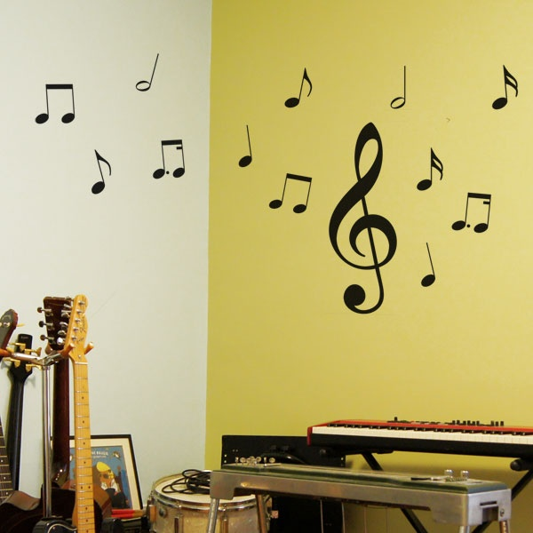 #autocollants #decalques #wallstickers #decals Notes de musique / Music notes. $29.95