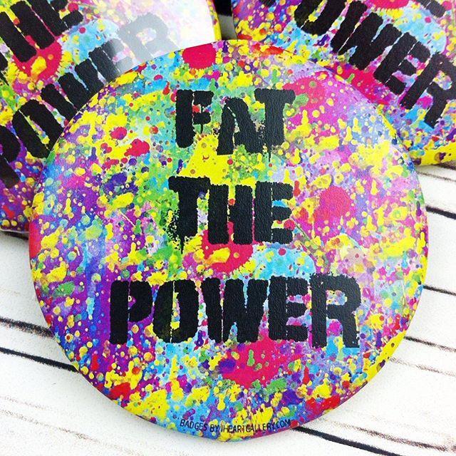 Body Pos Badge Club subscription service in progress! #bodyposbadgeclub #bodypositivity #bodypos #fatactivism #fatthepower #badge #button #magnet #pocketmirror #bottleopenerkeyring #badgemaker #effyourbeautystandards #plussizefashion #fatshion #honormycurves #celebratemysize #alternativecurves #daretowear #skorchmagazine #fashiontruth  #plusisequal #pizzasisters4lyfe #allbodiesaregoodbodies #morethananumber #dontaimtoshame #beautybeyondsize  #nobodyshamecampaign #beautyatanysize…