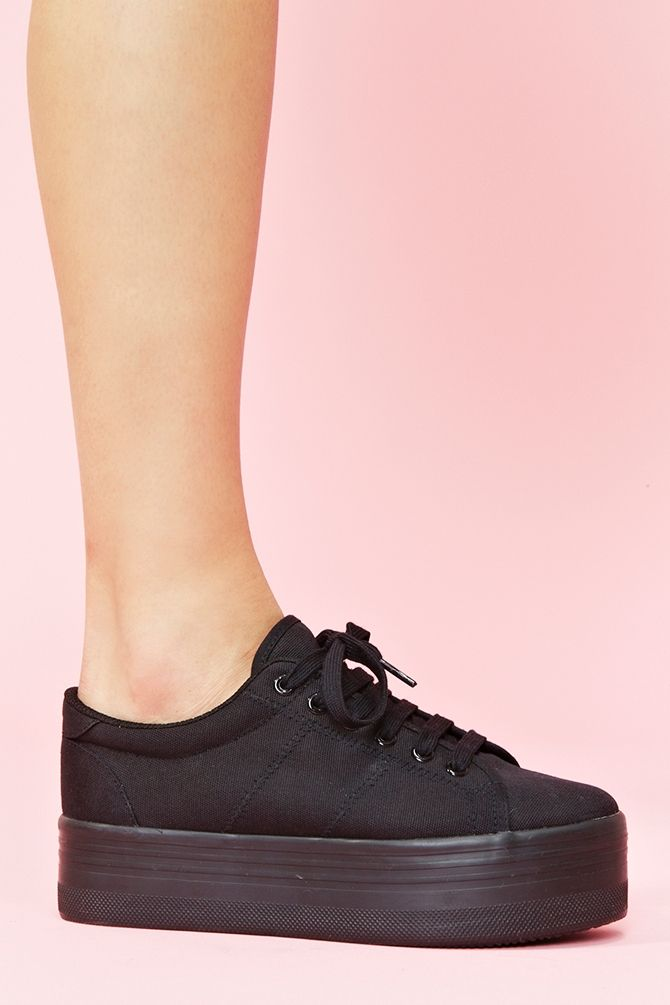 <3 Used to rock these back in the day...  Zomg Platform Sneaker - Black