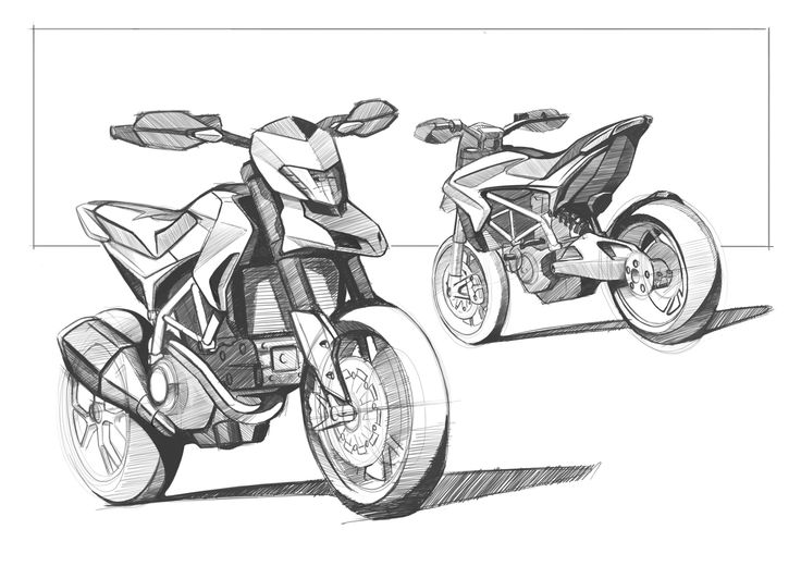 Sketch of the new Ducati Hypermotard 2013