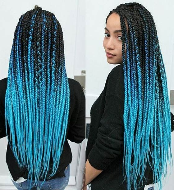 Best 25+ Colored box braids ideas on Pinterest | Box braid Protective styles and Goddess braids