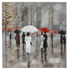 New York in the Rain Painting Print on Canvas