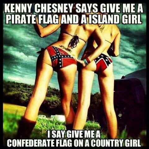 Confederate Flag  Country Girl