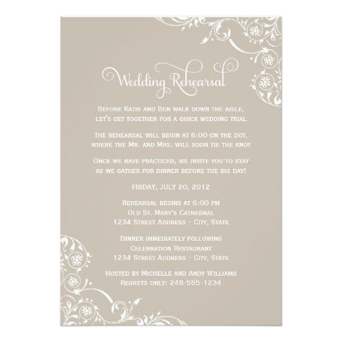 741 best Formal Wedding Invitations images on Pinterest Formal - formal dinner invitation sample