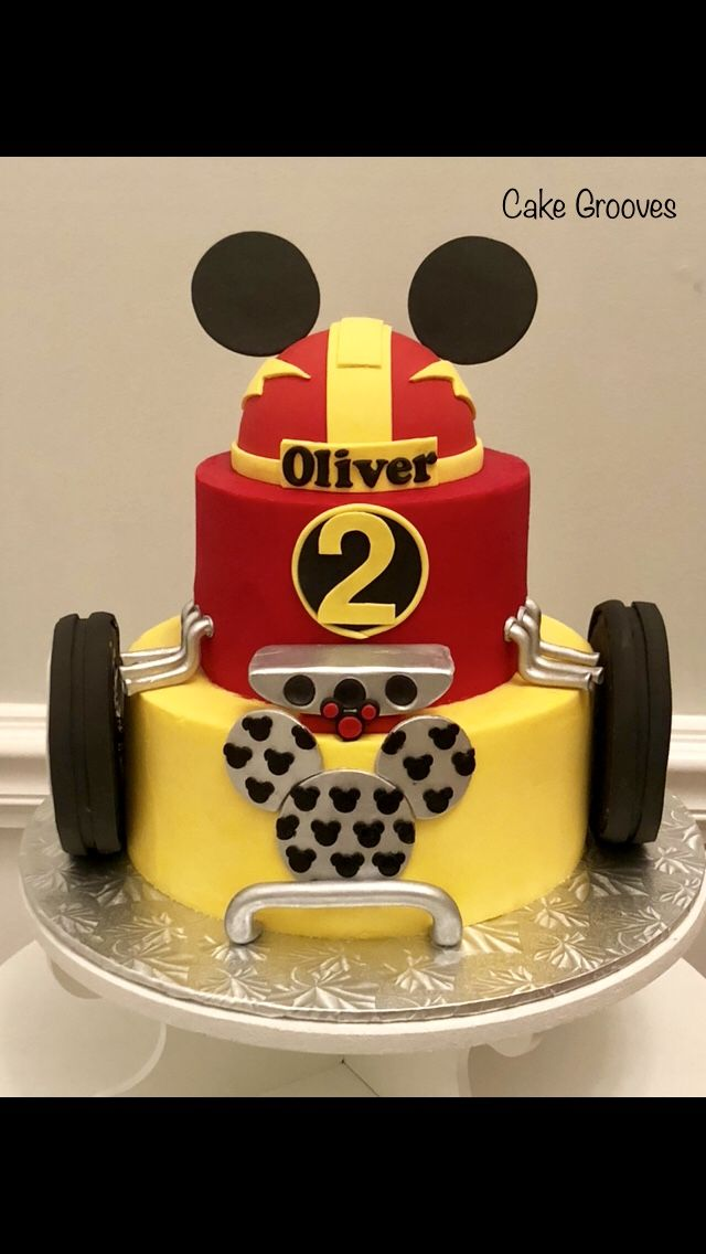 Mickey Roadster Racers Cake Mickey Roadster Racers Birthday