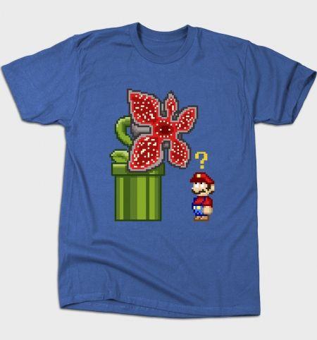 Stranger Bros T-Shirt - Mario T-Shirt is $12 today at Busted Tees!