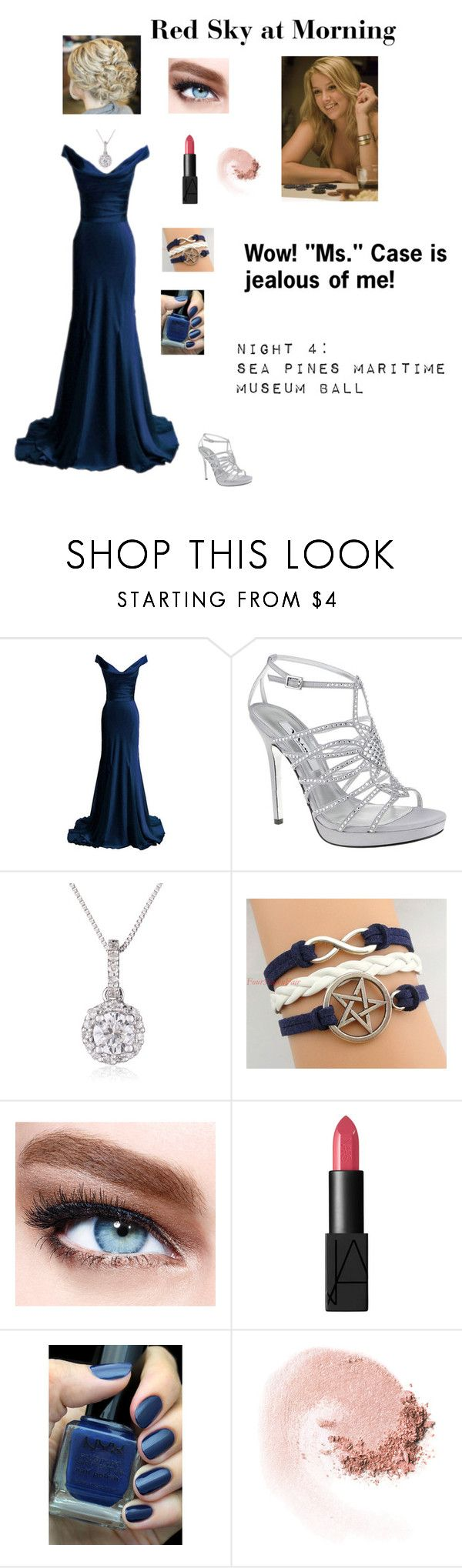 """""""SPN - S3E6 """"Red Sky at Morning"""" -  Kelsey Sanders"""" by nerdbucket ❤ liked on Polyvore featuring Dina bar-el, Nina, Maybelline, NARS Cosmetics and NYX"""