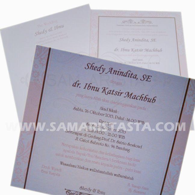 Selamat berbahagia untuk dua sejoli... Shedy Anindita, SE & dr. Ibnu Katsir Machbub Semoga bahagia selalu selamanya.. ^_^ -Sabtu, 26 Oktober 2013- #wedding #couple #pengantin #pernikahan #perkawinan #resepsi #acara #cetak #undangan #samarista #best #seller