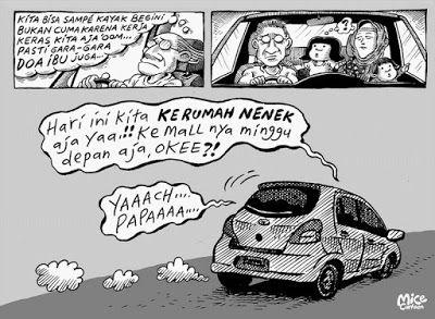Mice Cartoon, Kompas Minggu, 03 April 2016: Ke Rumah Nenek