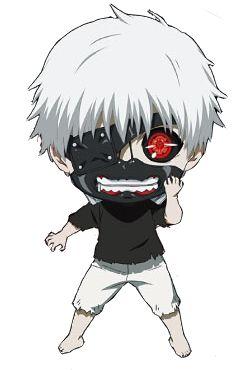 Keet Hara - Super duper cute Tokyo Ghoul characters chibi.