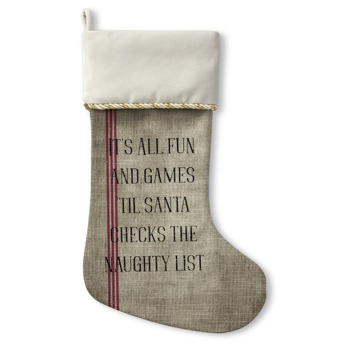 You'll love the Santas List Christmas Stocking at Joss & Main - With Great Deals on all products and Free Shipping on most stuff, even the big stuff.