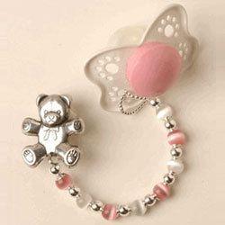 Color Beads Pacifier Clip Baby Jewelry - LuxuryLamb.Com