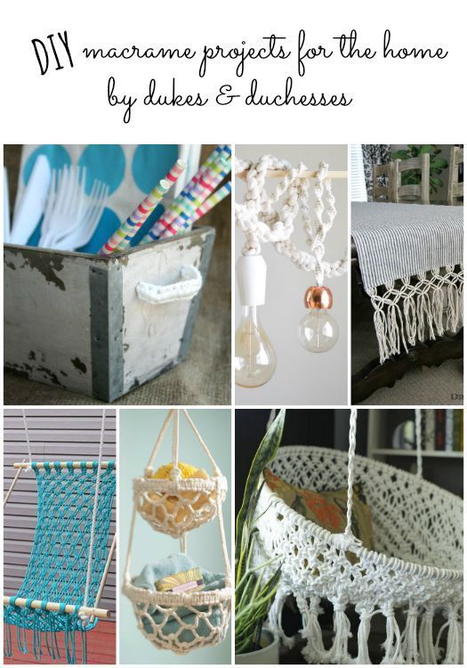 DIY macrame projects for the home | Creative Ideas | Pinterest ...
