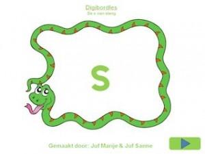 De s van slang digibordles.