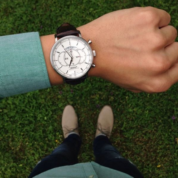 Gant Cameron Silver Brown Leather Watch. Really nice and detailed watch for casual and dress.