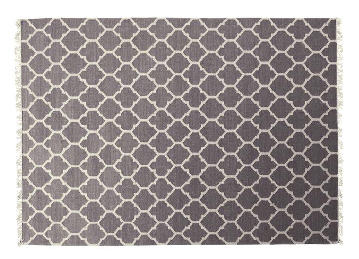 MIO - Arifa, handvävd matta, 100% ull, ljusgrå 200x140 cm, 1995 kr