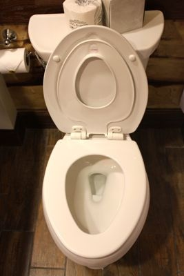 Nobody Falls In  Ladies and Gentlemen I present the flip down toddler potty seat. In every room. Because nobody should fall in the potty. Ever.  legoland-hotel